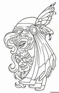 Grey Ink Gypsy Tattoo Design For Girls Tattoo
