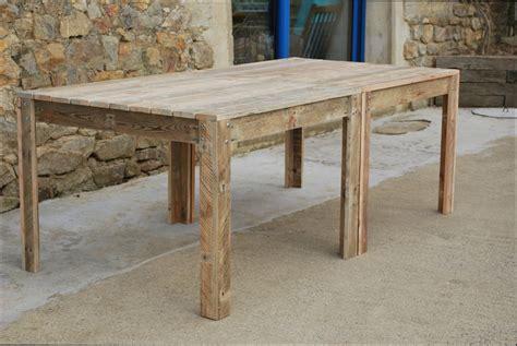 Table Bois  Fabriquer Une Table En Bois De Palette