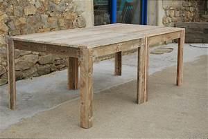 Table Bois Jardin : table bois fabriquer une grande table de jardin en bois ~ Edinachiropracticcenter.com Idées de Décoration