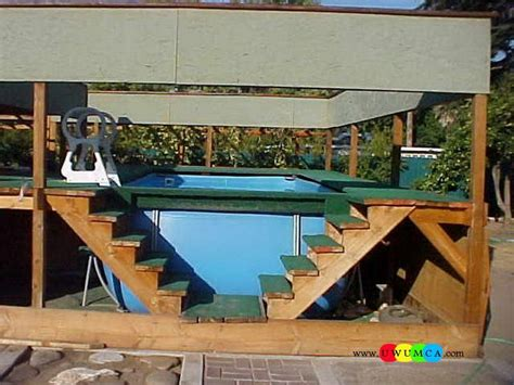 swimming poolswimming pool ladder pads  ground