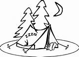 Camping Coloring Clipart Pages Wecoloringpage Preschool Tent sketch template