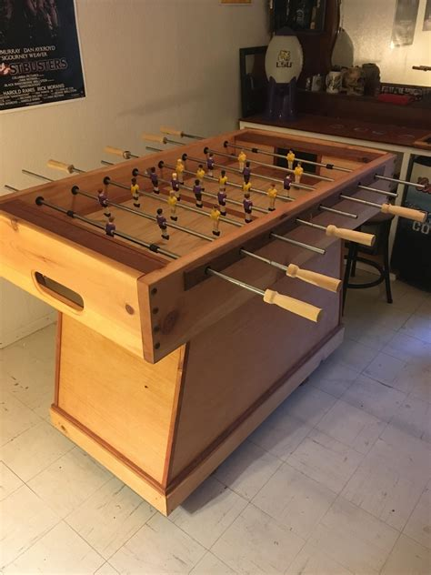 foosball table project quickcrafter diy table wood