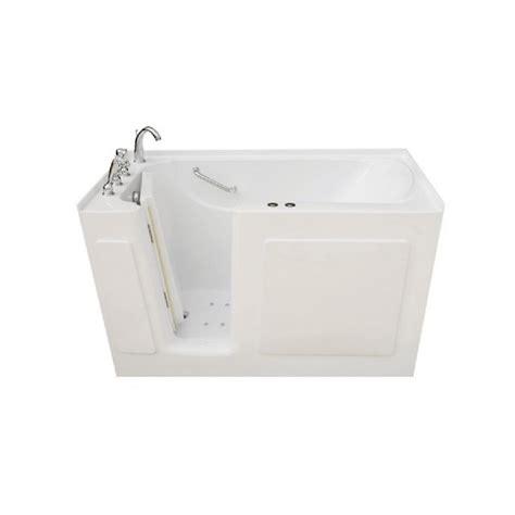 universal tubs  ft left drain wheel chair accessible whirlpool  air bath tub  white