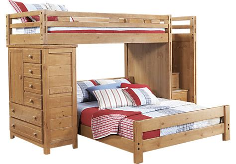 rooms to go bunk bed creekside taffy twin full step bunk bed w chest bunk chest 19643 | creekside taffy twin full step bunk bed w chest 525x366 3579206P