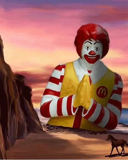 Mcdonald Ronald Pop Giphy Gifs Digital Horse