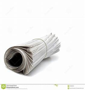 Newspaper Rolled Up Stock Photos - Image: 10858553