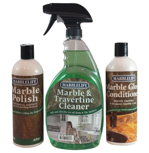 marble counter table and vanity clean and care kitmarblelife products