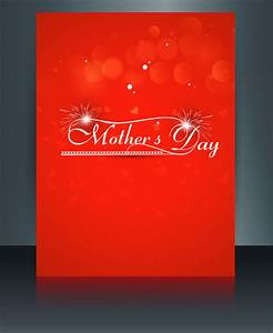 Heart concept mothers day reflection text card brochure ...