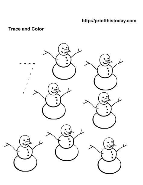8 Best Images Of Snowman Worksheets For Preschoolers  Printable Preschool Worksheets Number 7