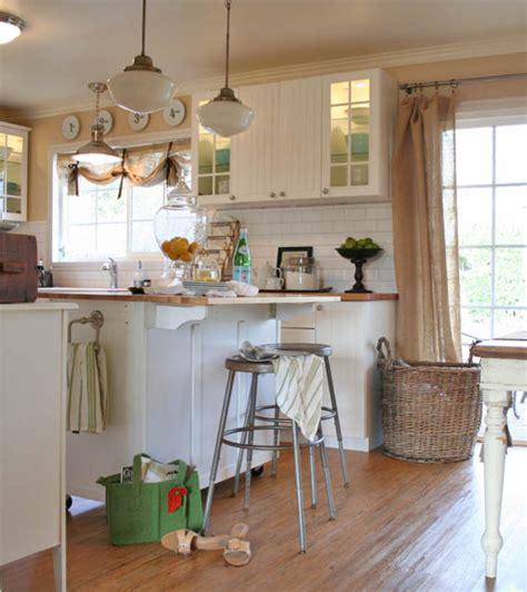 burlap window treatments Kitchen Farmhouse with apron sink