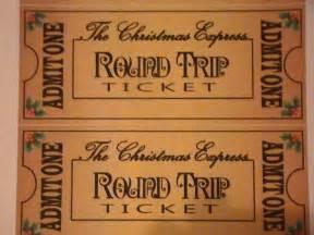 Polar Express Ticket Printable