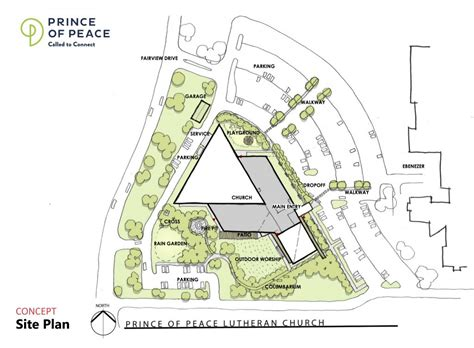 site plan design capital caign update concept site plans prince of peace lutheran church