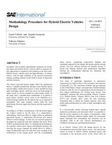 (PDF) Methodology Procedure for Hybrid Electric Vehicles ...
