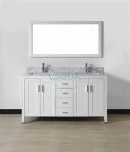 60 inch double sink bathroom vanity with choice of top in