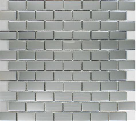 silver metallic mosaic tile backsplash smmt035