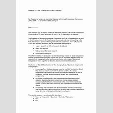 Sample Funding Request Letter
