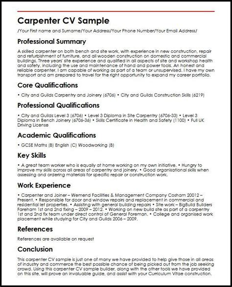main characteristic   cv model  resume tips