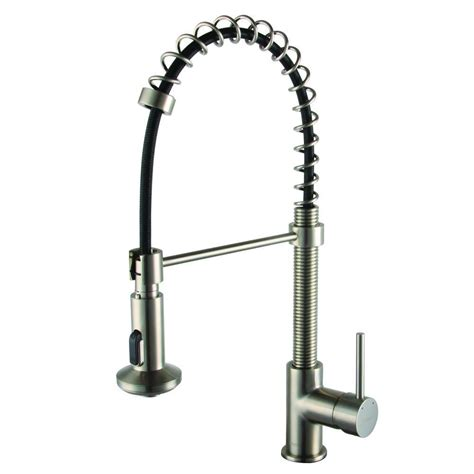 brushed nickel single handle kitchen faucet yosemite home decor single handle pull sprayer