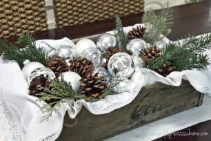Simple Centerpieces For Dining Room Tables by Rustic Glam Christmas Centerpiece Yellow Bliss Road