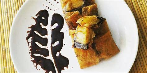 resep camilan sederhana  lezat pisang lumer coklat