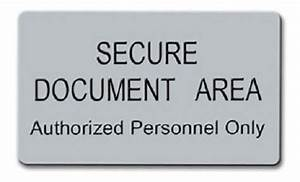 Secure document area mesa1com for Secure document area sign