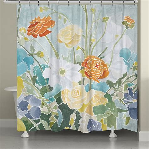 Laural Home Spring Floral Shower Curtain Bed Bath And Beyond