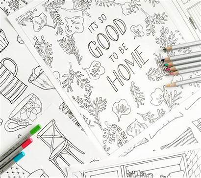 Coloring Adult Decor Decorating Pages Lovers Rooms