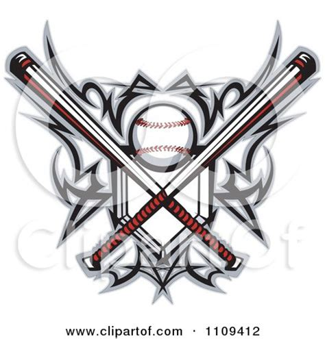 clipart tribal baseball home plate  crossed bats