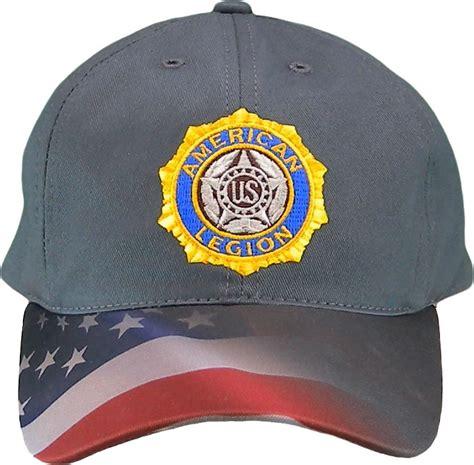 legion waving flag cap american legion flag emblem