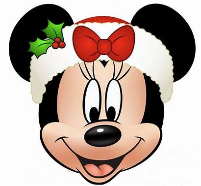 Mickey Minnie Christmas Mouse Disney Clipart Head