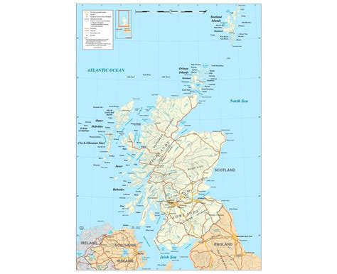 Detailed Map Of Scotland In English