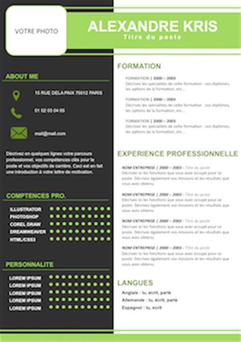 Exemple Cv Mise En Page by Exemple Mise En Page Cv Giga Media