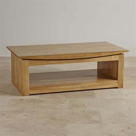 solid oak coffee table tokyo natural solid oak large coffee table