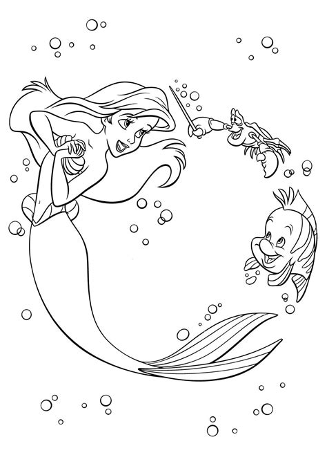 disney coloring book   coloring pages ariel