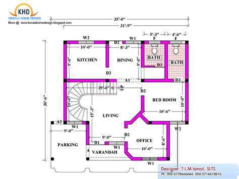ground floor means home plan and elevation 2080 sq ft kerala house design idea