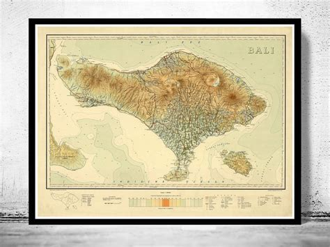 map  bali indonesia   maps  vintage prints