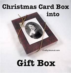 Christmas Card Box into Gift Box – Idea 2