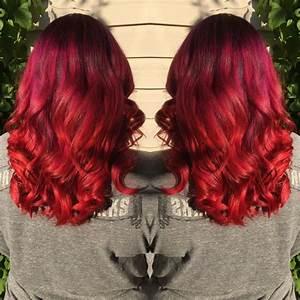Ombré Hair Rouge : guy tang ombr hair pink purple red orange curled ~ Melissatoandfro.com Idées de Décoration