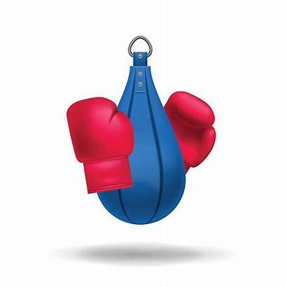 Boxing Gloves Vector Hanging Clip Punching Bag
