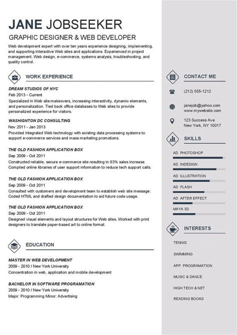 Buy Cv Template by Best Resume Templates To Buy Resume Template Instant