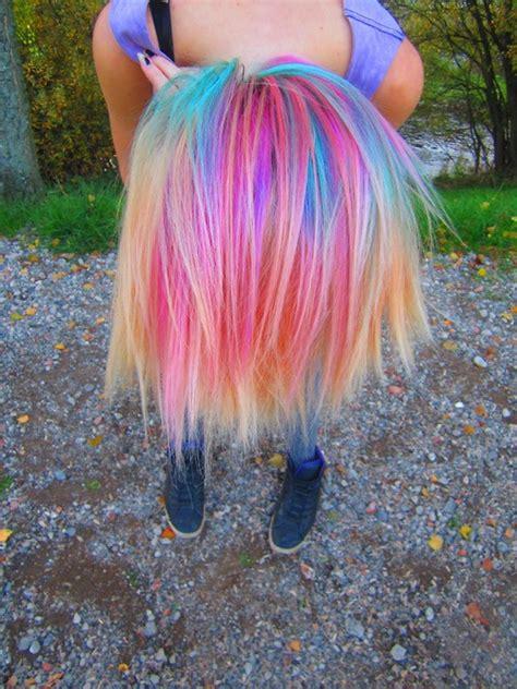 Multi Colored Hair C Hair Pinterest Pastel Rainbow