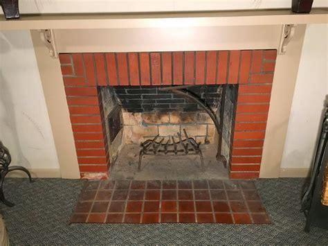 fix mortar gaps   fireplace fire box
