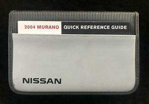 2004 Nissan Murano Owners Manual Book Complete Set