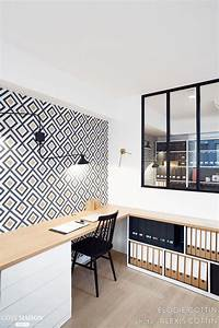 les 25 meilleures idees de la categorie rangement bureau With peinture d une maison 6 amenager un coin bureau dans un studio un appartement ou