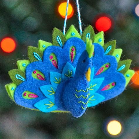 peacock ornament pattern felt christmas ornaments felt