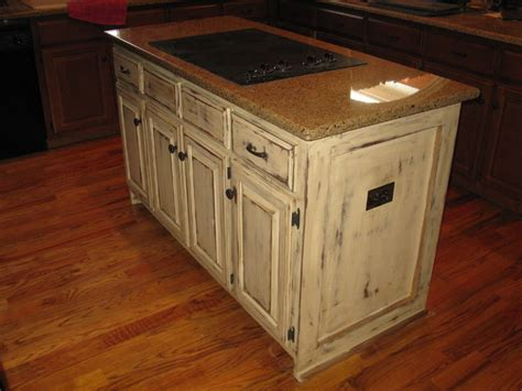 distressed kitchen island distressed barn finish for kitchen island other metro 3378
