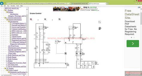 chevrolet cruze  europe service manual auto repair