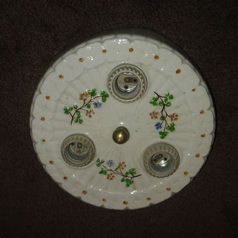 decorated porcelain flush mount ceiling light fixture from