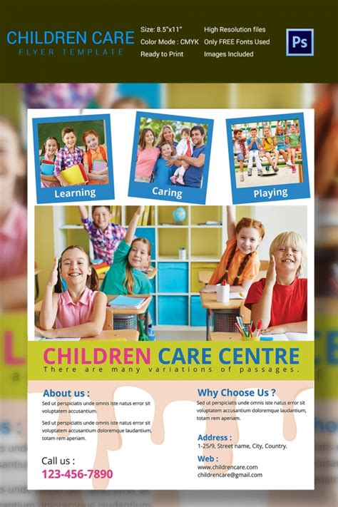 Daycare Flyers Templates Free by Daycare Flyer Template 27 Free Psd Ai Vector Eps