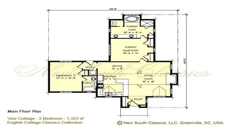 cottage home plans 2 bedroom cottage plans 2 bedroom house simple plan 2